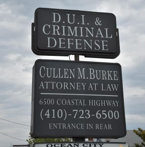 DUI Criminal Defense signage